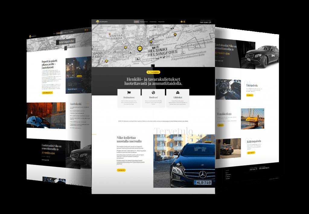 Taksiyhtiölle nettisivut