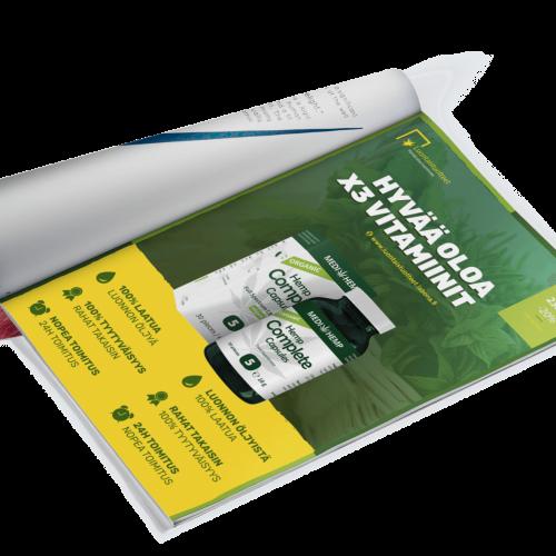 LehtiMainoksen suunnittelu palvelu vitamiinit